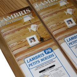 Lambris vernis pin petit noeud 2000 x 100 x 10 au m²
